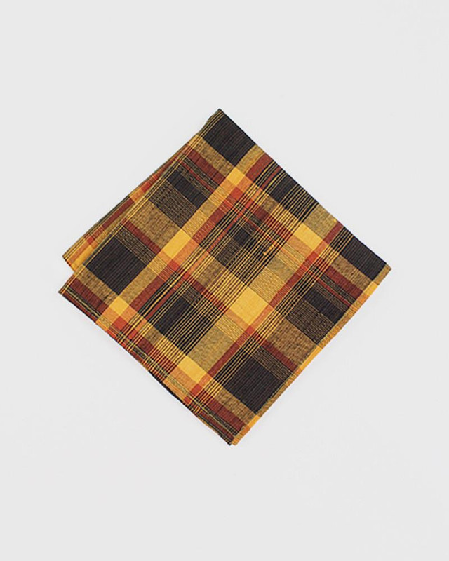 Pocket Square, Kimono Yellow Plaid