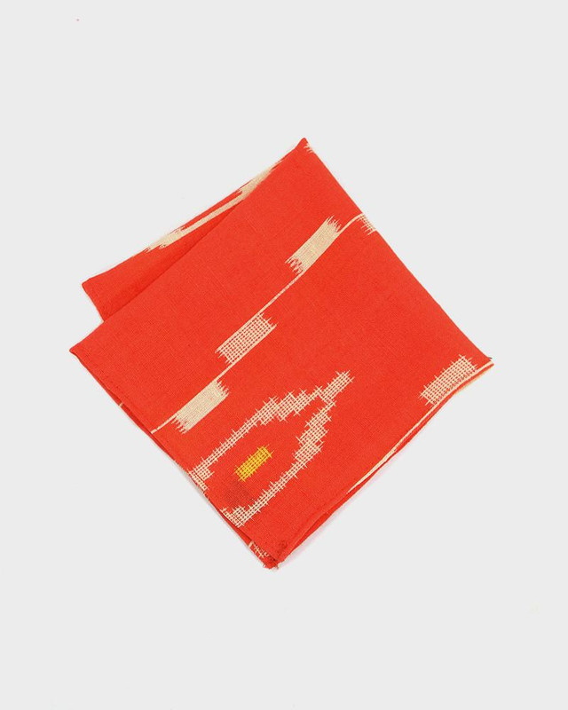 Pocket Square, Kimono Orange Kasuri