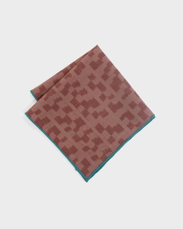 Pocket Square, Kimono Coral Kasuri