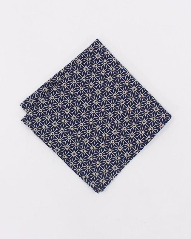 Pocket Square, Indigo Asanoha