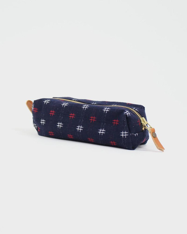 Pencil Pouch, Midnight Kasuri Cros