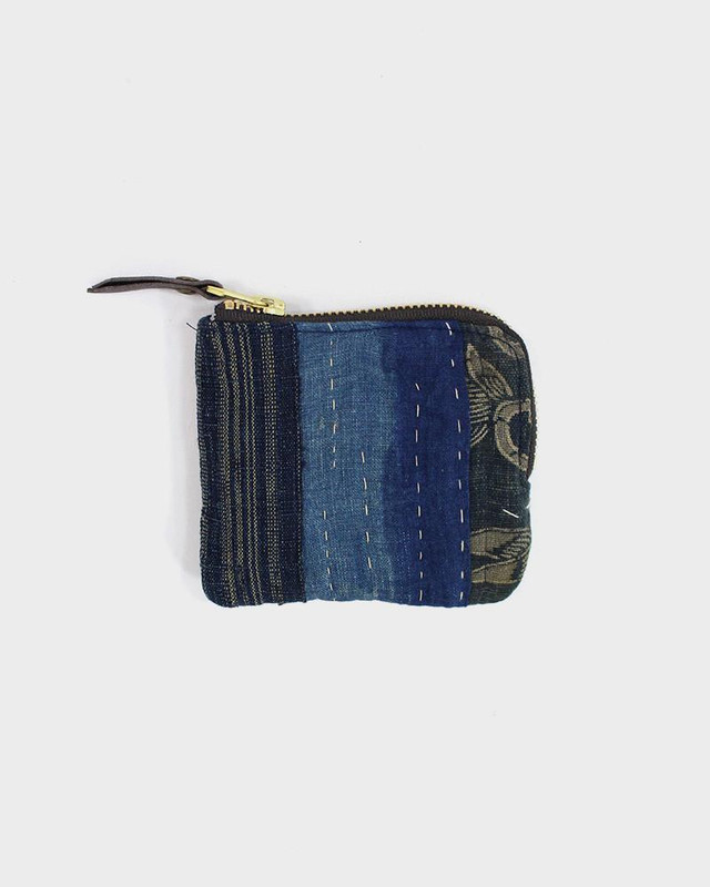 Zipper Wallet, Boro Patchwork 08