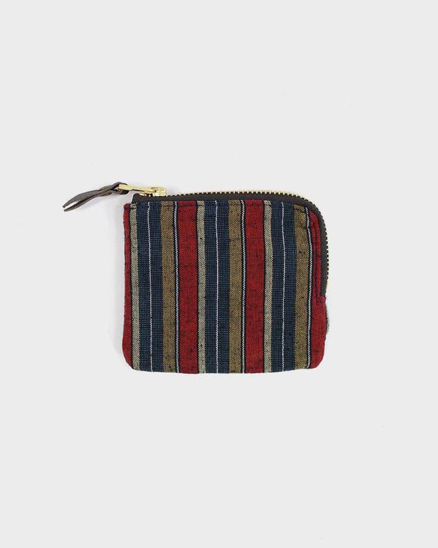 Zipper Wallet, Woven Shima Red