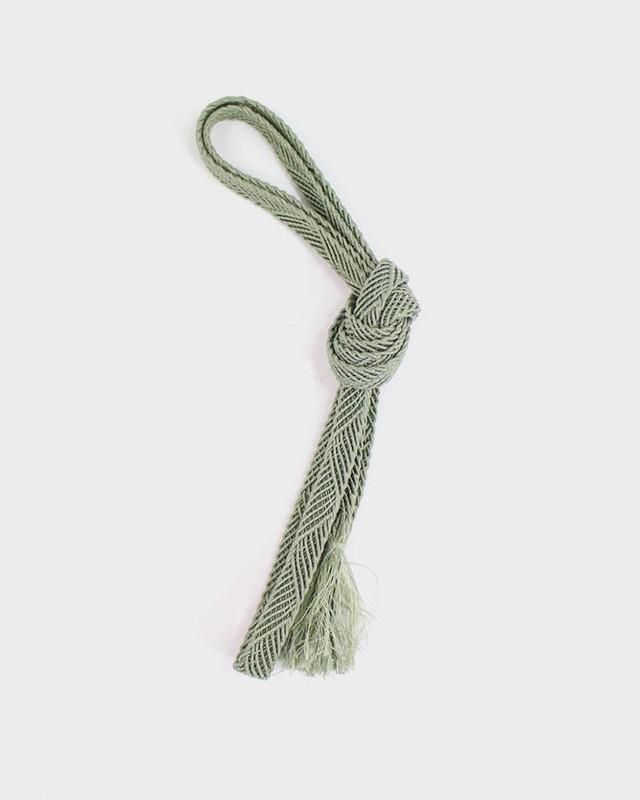 Vintage Obijime Belt, Woven Teal