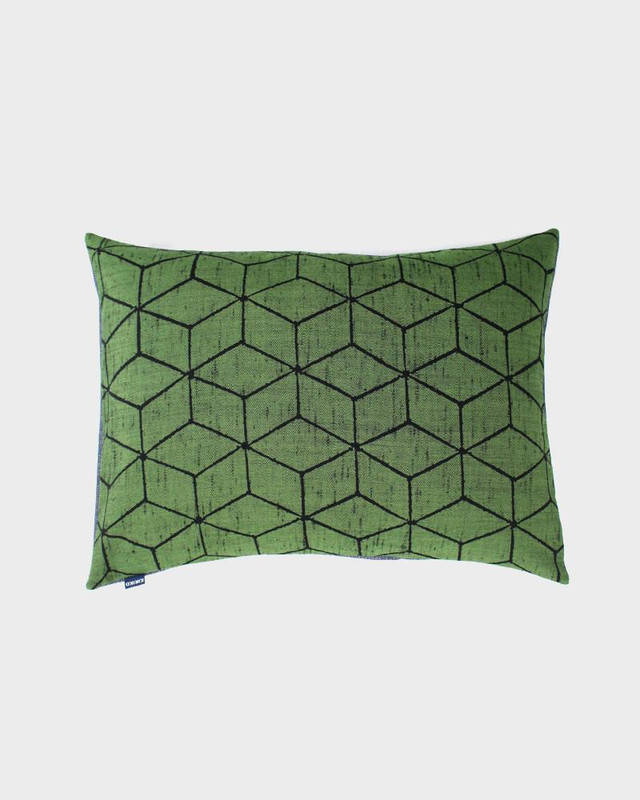 Pillow, Green Cubes