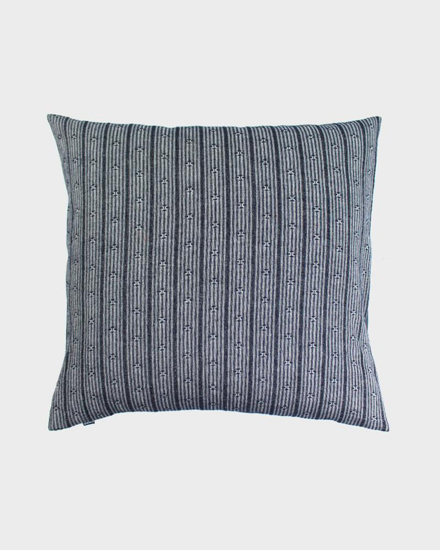 Pillow, Grey And White Kasuri