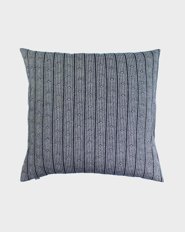 Pillow, Grey And White Kasuri