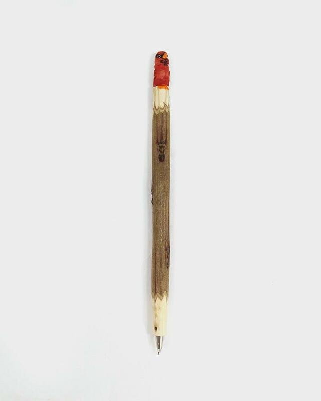 Wooden Red Robin Pen