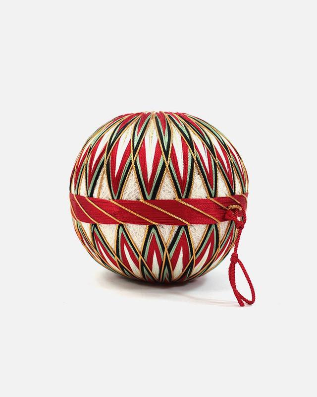 Vintage Temari Ball, Small White