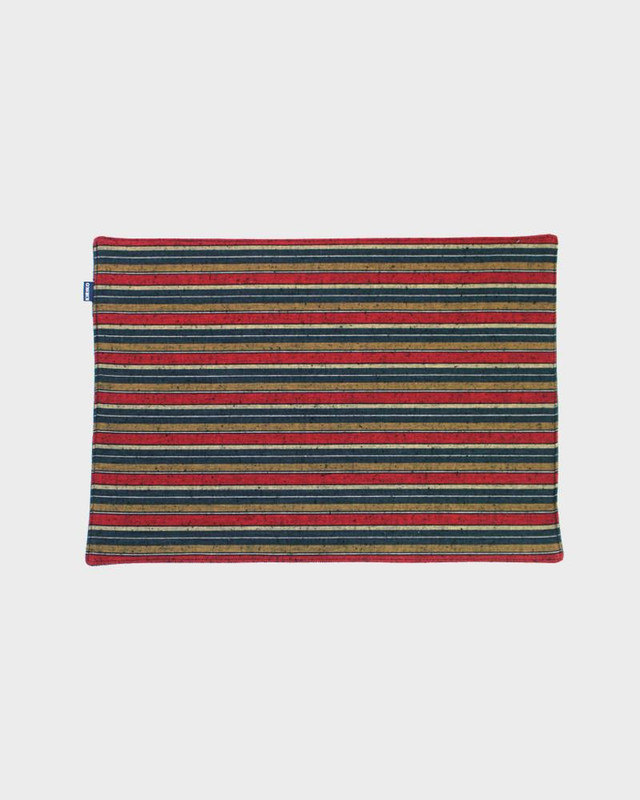 Table Mat x 4, Woven Stripe 01
