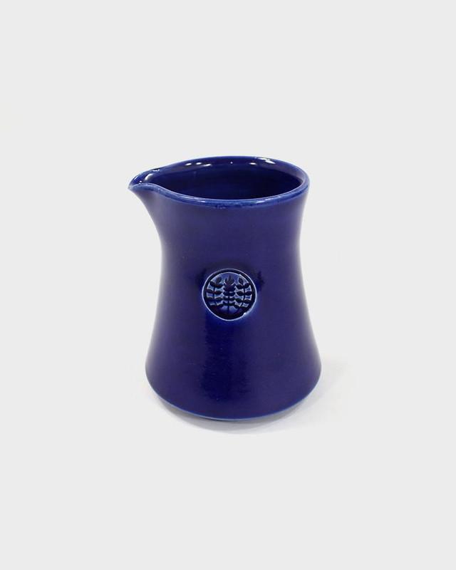 Kelly Pottery, Short Glazed Blue Ceramic Coffee Pot