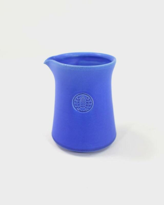 Kelly Pottery, Short Matte Blue Ceramic Coffee Pot