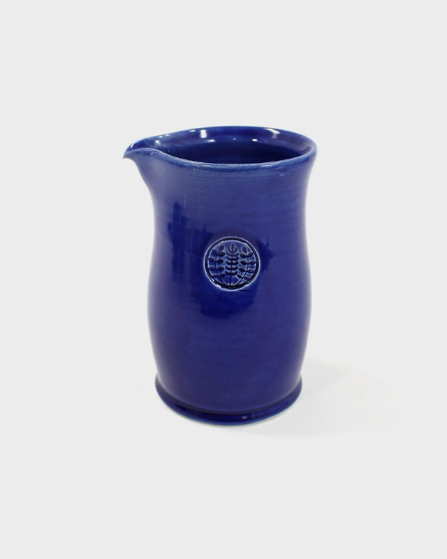 Kelly Pottery, Tall Glazed Blue Ceramic Coffee Pot