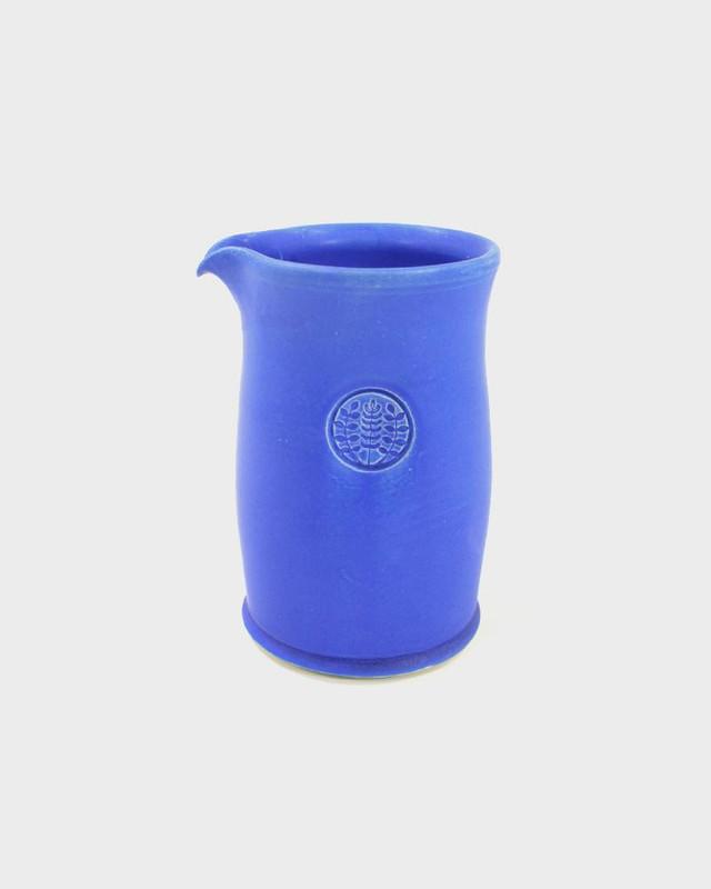 Kelly Pottery, Tall Matte Blue Ceramic Coffee Pot