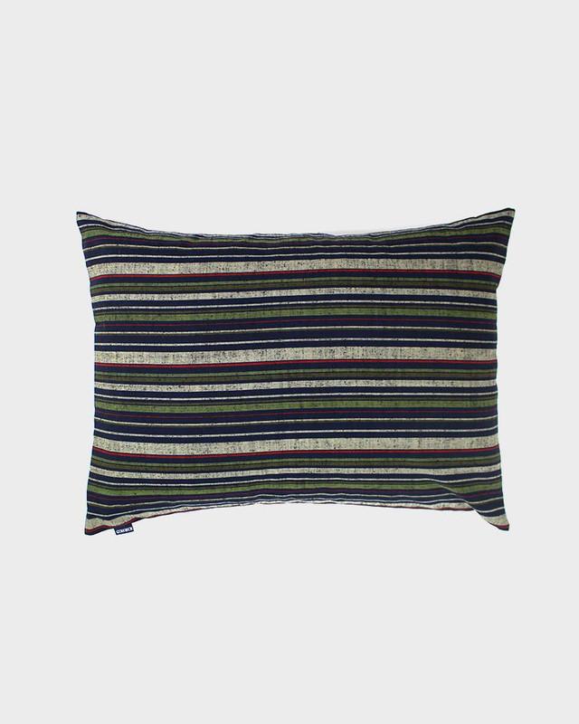 Pillow, Green Woven Shima
