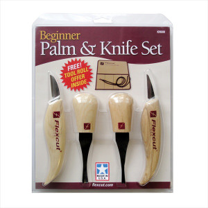 Flexcut KN600 Beginner Palm and Knife Set