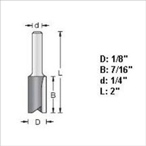 "Amana 45200 1/8""D Straight Plunge Router Bit """""