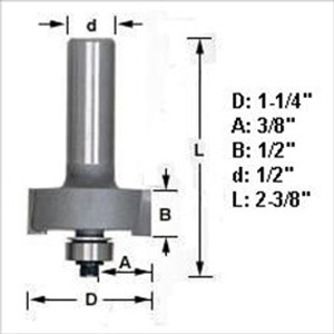 "Amana 49302 Rabbeting Router Bit 1/2"" Shank"