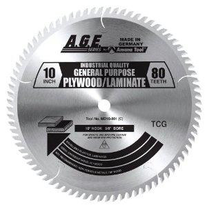 "Amana MD10-801C 10"" x 80t TCG Plywood/Laminate Blade 5/8 Bore"