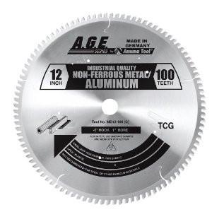 "Amana MD12-105C 12"" x 100t TCG Non-Ferrous Metal Blade 1"" Bore"
