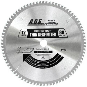 "Amana MD12-806C 12"" x 80t Thin Miter Blade 1"" Bore"