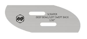 Stuart Batty 1.5 inch Swept Back Left Conventional Scraper Blade