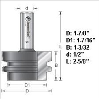 "Amana 55388 Glue Joint Router Bit 1/2"" Shank"