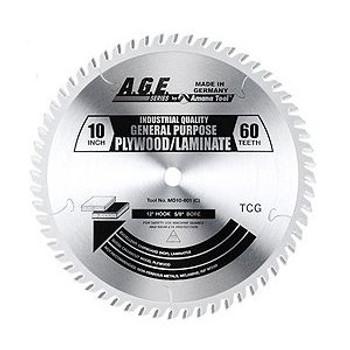 "Amana MD10-601C 10"" x 60t TCG Plywood/Laminate Blade 5/8 Bore"