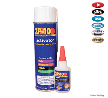 Fastcap 2P-10 12oz Activator And 2.25oz Thick Glue
