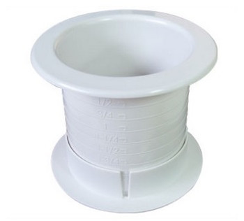 "Fastcap Grommet 2.5"" White 2-Sided"