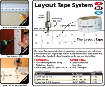 Fastcap Layout Tape 60' Roll