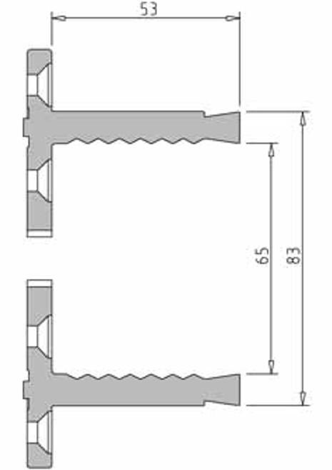 Vicmarc V00694 VM120 Shark Jaws dimensions