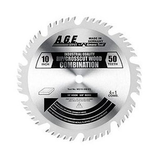 "Amana MD10-500C 10"" x 50t ATBR Combination Blade 5/8 Bore"