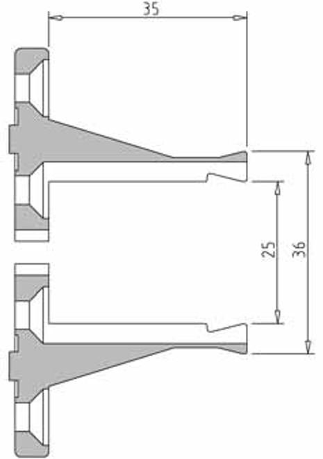 Vicmarc V00647 VM100 35mm Long Nose Jaw dimensions