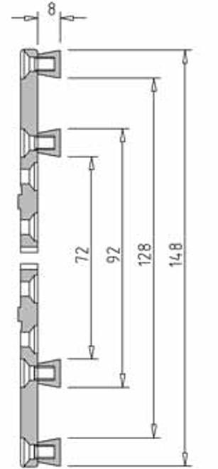Vicmarc V00649 VM100 Multipurpose Jaw dimensions