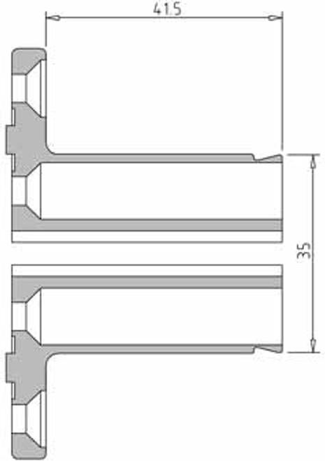 Vicmarc V00651 VM100 35mm Pin Jaw dimensions
