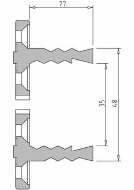 Vicmarc V00653 VM100 48mm Shark Jaw dimensions