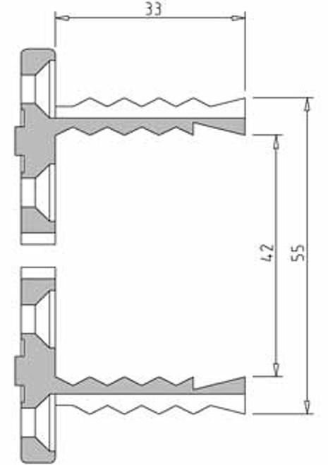 Vicmarc V00654 VM100 55mm Shark Jaw dimensions