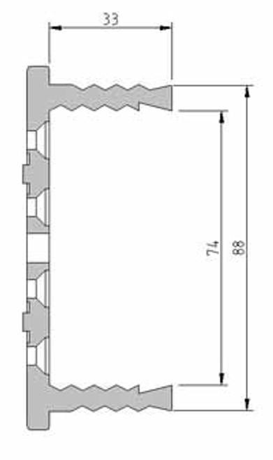 Vicmarc V00656 VM100 88mm Shark Jaw dimensions
