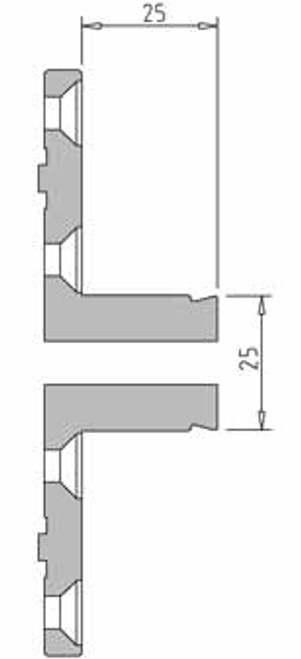 Vicmarc V00687 VM120 25mm Pin Jaw Dimensions