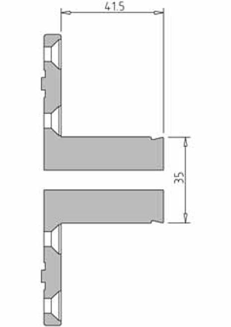 Vicmarc V00688 VM120 35mm Pin Jaw dimensions