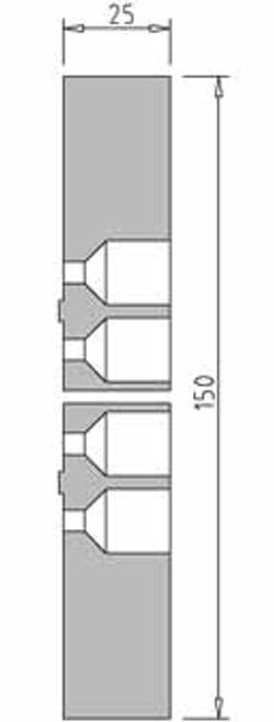 Vicmarc V00690 VM120 150mm Plastic Jaw dimensions