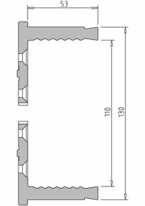 Vicmarc V00691 VM120 130mm Shark Jaw dimensions