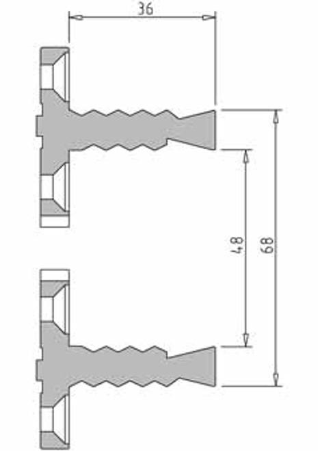 Vicmarc V00693 VM120 68mm Shark Jaw dimensions