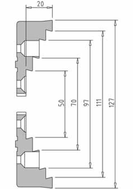 Vicmarc V00696 VM120 Step Jaw dimensions