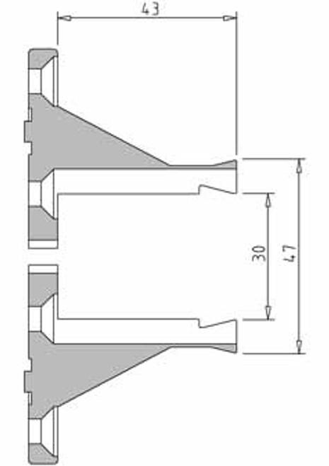 Vicmarc V00684 Long Nose Jaw dimensions
