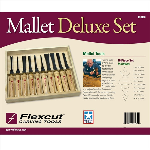 Flexcut MC100 10pc Deluxe Set