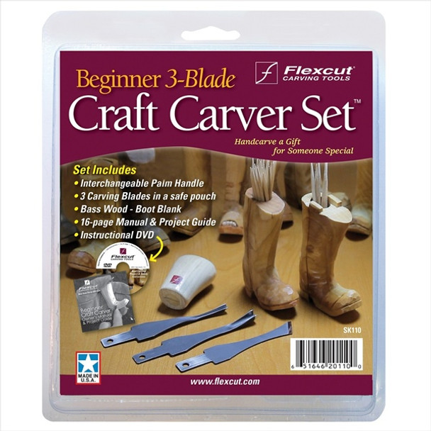 Flexcut SK110 Beginner 3 Blade Craft Carver Set