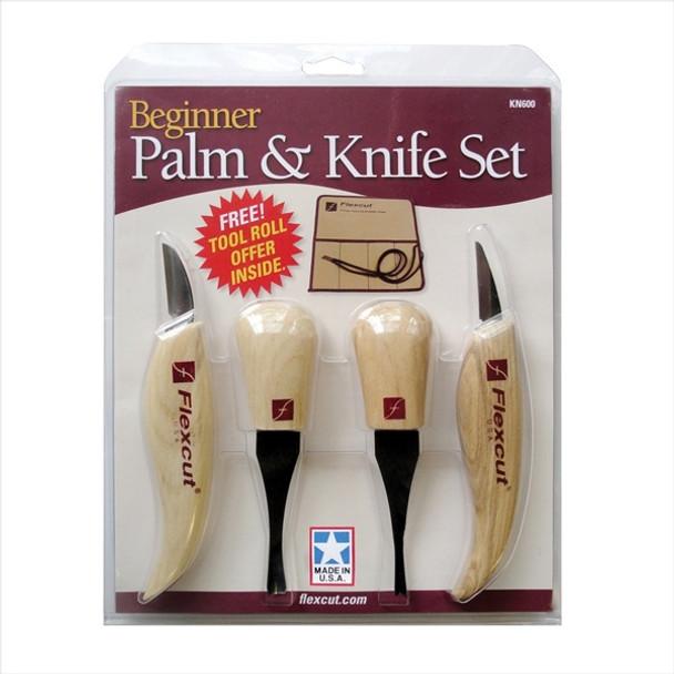 Flexcut KN600 Beginner Palm and Knife Set