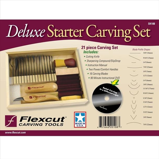 Flexcut SK108 21pc Deluxe Starter Set